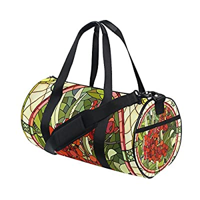 6838fbaa8fc2 Gym Bag Vintage Marble Tile Fruit Sports Travel Duffel Lightweight Canvas  Bags outlet