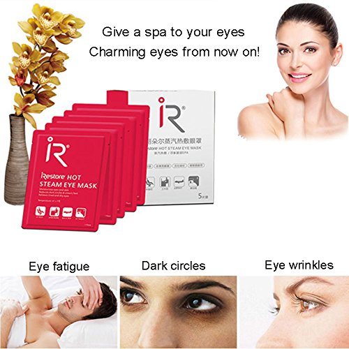 BestFire Hot Steam Eye Mask Warm Eye Patch Steam Eye SPA Mask Relieve Eye Tiredness Remove Eye Dark Circles,Lavender Fragrance- 2 Packs(10 Pcs) by BestFire® (Image #5)