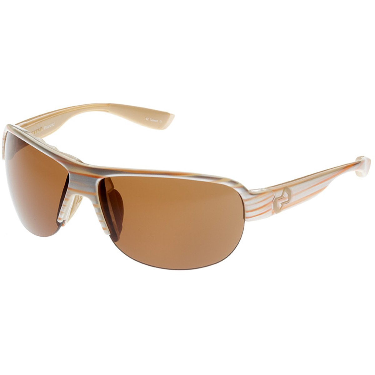 Native Zodiac Interchangeable Polarized Sunglasses (Brown, Pearl Swirl)