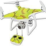 MightySkins Protective Vinyl Skin Decal for DJI Phantom 4 Quadcopter Drone wrap cover sticker skins Softball Collection