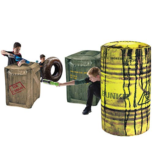 tlezone Battle Royale Set (4 Piece) - Compatible with Nerf, Laser X, X-Shot and Boomco ()