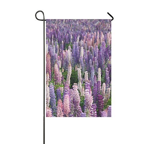 Home Decorative Outdoor Double Sided Lavender Flowers Field