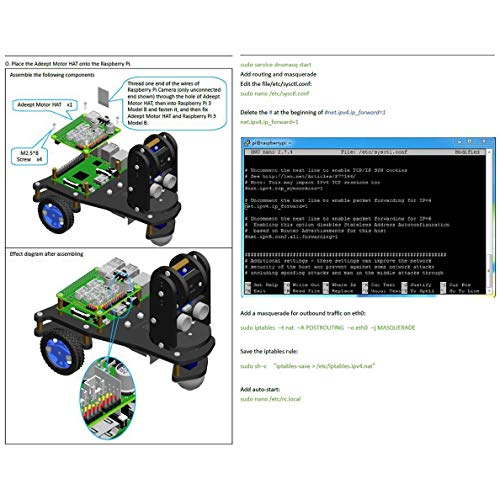Adeept PiCar-A Wireless WiFi 3WD Smart Robot Car Kit for