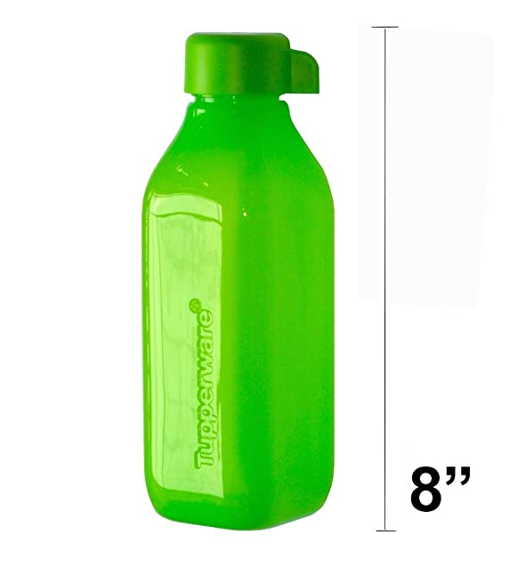 Tupperware ECO Square Water Bottle 16 Oz - Green. Thermos & Flasks at amazon