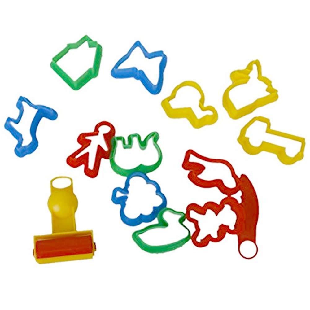 de los Animales en Forma de moldes de la Torta de plastilina de Colores Cortador de Galletas con diversas Plantas Animales Formas Herramienta Moldes 14pcs