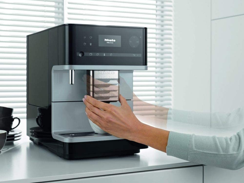 Miele CM 6350 Maquina de café libre instalación, 1.8 litros, Negro, Plata: Amazon.es: Hogar