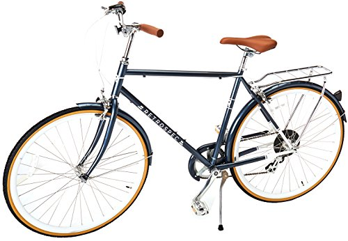 Retrospec Mars Hybrid City Commuter Bike, 54cm/Medium, Midnight Blue, 7-Speed