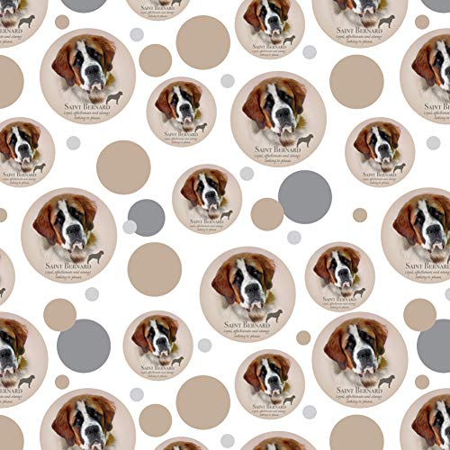 GRAPHICS & MORE Saint Bernard Dog Breed Premium Gift Wrap Wrapping Paper Roll