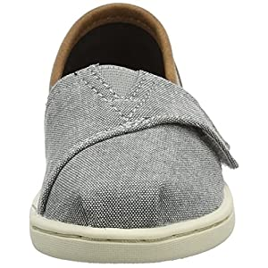 TOMS – Tiny Slip-On Shoes, Size: 6 M US Toddler, Color: Grey Chambray/Pu