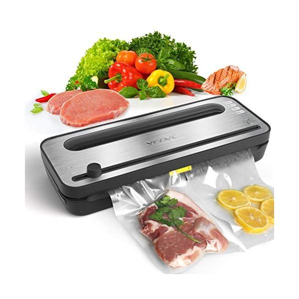 Yissvic Macchina Sottovuoto per Alimenti con Taglierina incorporata e Contenitore per Rotoli, Macchina Sottovuoto… 1