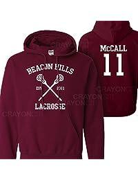 Mars NY Women's Men's Teen Wolf Beacon Hills Lacrosse McCall 11 Hoodie
