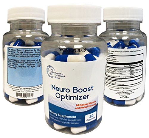 lief - Migraine Treatment Group: Neuro Boost Optimizer - 30 Capsules - Helps Elevate Mood and Energy Levels, Provides A Natural Brain Boost, Helps Relieve Stress ()