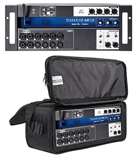 (Soundcraft Ui16 16 Input Digital Mixer+Wifi+App Control+Recording+Rack Case Bag)