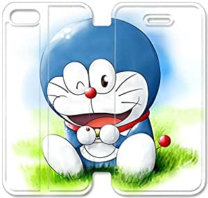 Screen Protection Phone Cases Doraemon-8 iPhone 4 4S Leather Flip Case