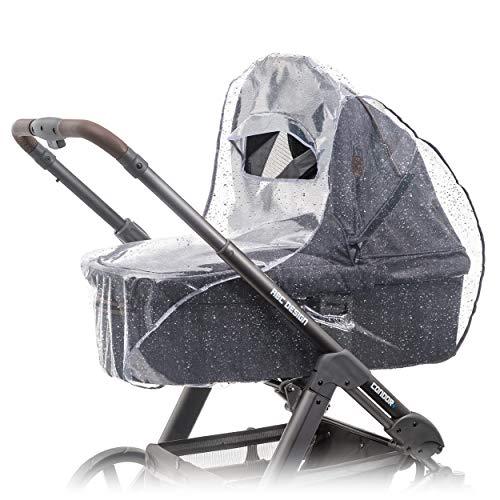 Zamboo Regenhoes / Regenscherm voor Kinderwagen / Wandelwagen met Reiswieg (passend op Joolz, Quinny, Bugaboo e.d.) met…