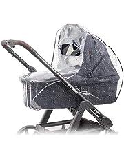 Zamboo Universellt regnskydd för barnvagn (t.ex. Hauck, Joie, ABC-design etc.) | Luftcirkulerande, vattentåligt och hållbart babyskydd regnskydd (PVC-fri) – grå