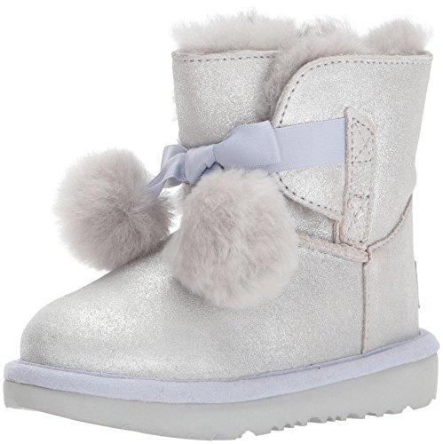 UGG Girls T Gita Metallic Pull-on Boot, Silver, 12 M US Little Kid -
