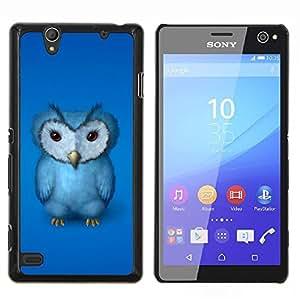 """Be-Star Único Patrón Plástico Duro Fundas Cover Cubre Hard Case Cover Para Sony Xperia C4 E5303 E5306 E5353 ( Pájaro de bebé azul del búho Furry gruñón Arte Dibujo"""" )"""