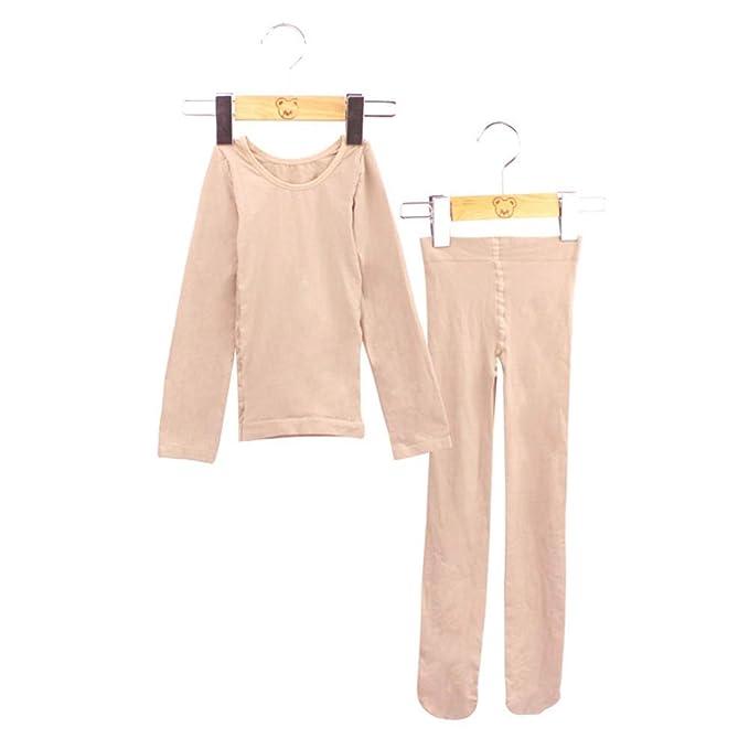 2964920370 Guiran Bambina Ragazze Set D Biancheria Intima Termica Danza Maglietta +  Collant: Amazon.it: Abbigliamento