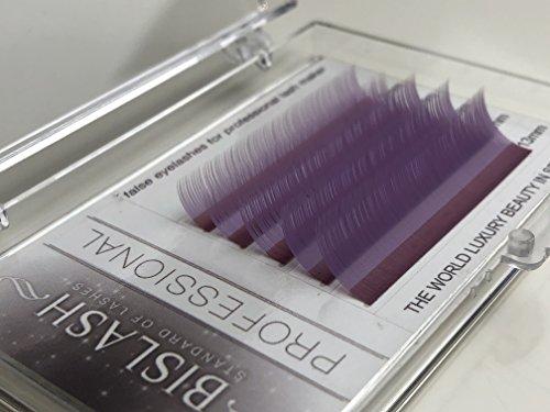 Eyelash Extensions, Light Violet, C curl 0,15mm/9-13mm, Mix Tray,Individual Classic Eyelash Extension