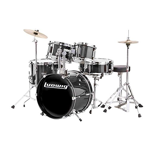 (Ludwig Accent Drive Drum Set in Black finish)