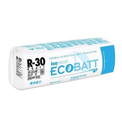 Knauf R-30 Fiberglass Batt Insulation Fits 2x8 Floor or