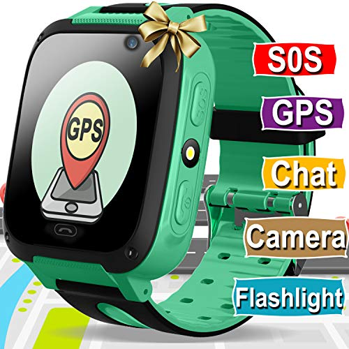 Kids Smart Watch Phone for Girls Boys GPS Tracker with Cellphone SOS Anti-lost Camera Game Smart Watch Digital Wrist Watch Bracelet for Sport Outdoor Learning Toys Holiday Birthday Gifts