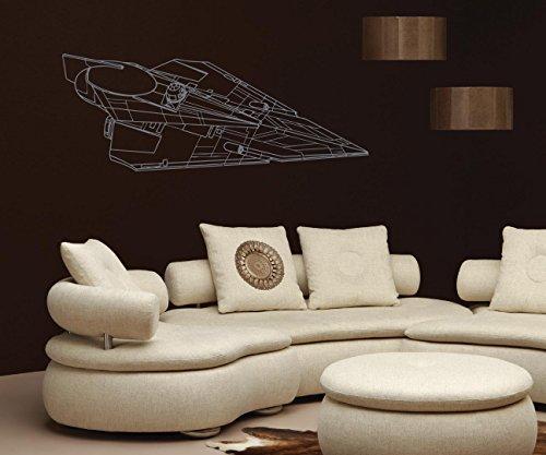 - Delta-7 Jedi Starfighter Star Wars Nursery Room Kids Bedroom Wall Sticker Decal Wall Art Decor G7307-2