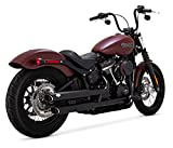 Vance & Hines Black Twin Slash 3-Inch Slip-ons for 2018-Newer Softail Street Bob, Low Rider, Softail Slim, Fat Boy, and Breakout