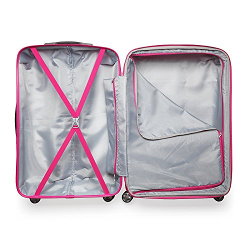 2 Pack Love Box[Boy and girl,daddy and boy,mommy and girl] 20''-28'' Luggage 360° Spinner Wheels Trolley Suitcase TSALock Travel Carryon Bag Hardside Travelhouse (Pink+White) by Chiuer (Image #6)