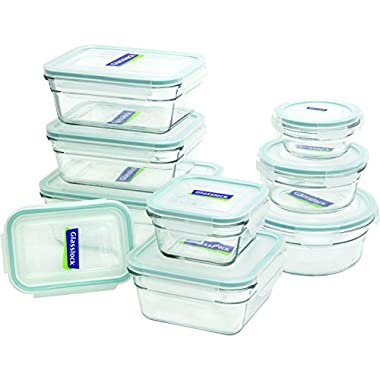 Glasslock 11363  18-Piece Assorted Oven Safe Container Set