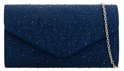 Navy Rhinestones Bag Girly Handbags Elegant Clutch wvIqwng0XE