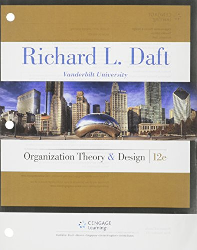 Book Depository Organization Theory and Design by Richard L. Daft.pdf
