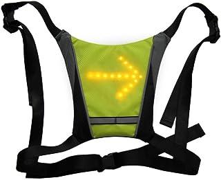 Forbestest Ciclismo Biciclette Vest LED di Sicurezza Senza Fili di Luce di girata Vest Equitazione Notte Segnale di Avviso Zaino Guiding Light