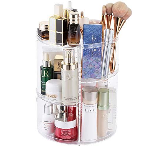 360 Spinning Makeup Organizer – Rotating Makeup Organiser Storage Lazy Susan Rack for Perfume, Nail Polish – Premium…