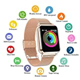 Smart Watch, Fitness Tracker with Heart Rate & Blood Pressure & for Women