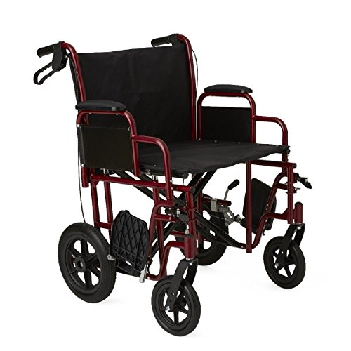 extrawide-22-transport-wheelchair-with-brakes-red