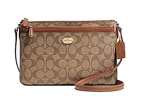 E Leather Pop W Crossgrain Khaki Crossbody Saddle COACH wCv6f4qcc