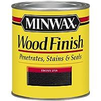 Wonderful Minwax 227184444 Wood Finish Penetrating Interior Wood Stain, 1/2 Pint,  Ebony