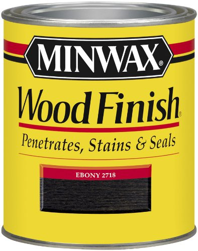 Stain (Minwax 227184444  Wood Finish Penetrating Interior Wood Stain, 1/2 pint, Ebony)