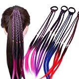 WensLTD-Girls Hair Ring Twist Braid Rope Creative Rubber Band Hair Accessories Kids Wig (Purple)