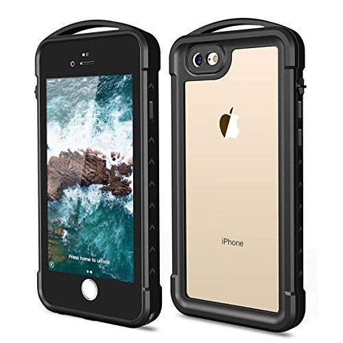(iPhone 7/8 Waterproof Case, SNOWFOX Underwater Full Sealed Cover Snowproof Shockproof Dirtproof IP68 Certified Waterproof Case for iPhone 7/8 4.7 inch)