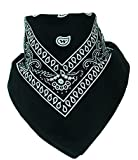 BOOLAVARD 100% Cotton 1pcs, 6pcs or 12pcs Pack Bandanas with Original Paisley Pattern Colour of Choice Headwear/Hair
