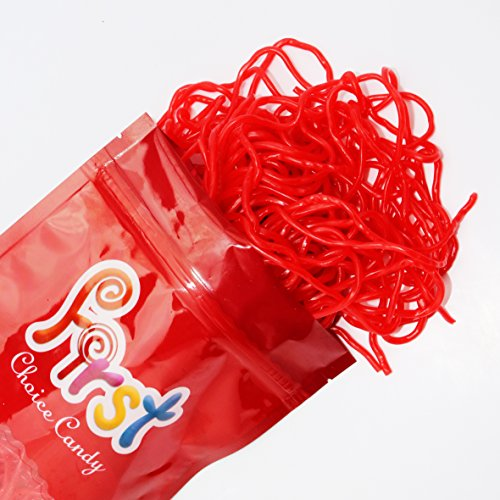 Firstchoicecandy Strawberry Licorice Laces 1 Pound 16 oz In a Resealable Gift Bag ()