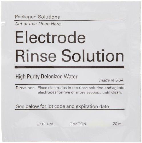 Oakton WD-35653-00 Singles Deionized Rinse Water Pouch (Box of 20) by Oakton