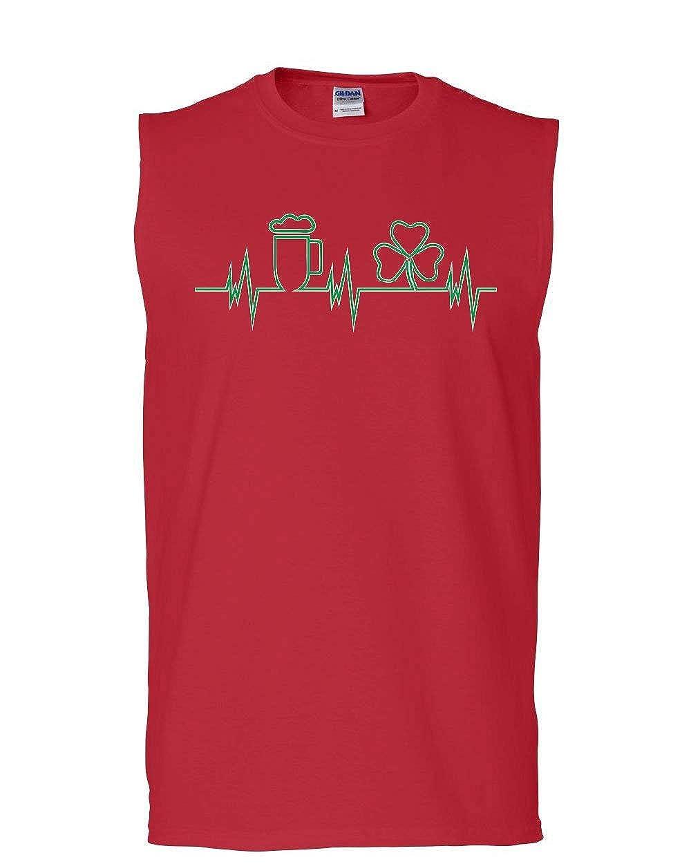 Patricks Day Irish Drinking Sleeveless Tee Hunt Shamrock Beer Heartbeet Muscle Shirt St
