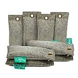 Bamboo Charcoal Shoe Deodorizer Bags (8-Pack), 100-gram Mini Activated Charcoal Deodorizer Bags, Natural Bamboo Charcoal Odor Eliminator for Drawers, Trash Bins & More, Bag & Shoe Deodorizer Inserts