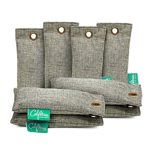 Bamboo Charcoal Shoe Deodorizer Bags (8-Pack), 100-gram Mini Activated Charcoal Deodorizer Bags, Natural Bamboo Charcoal Odor Eliminator for Drawers, Trash Bins & More, Bag & Shoe Deodorizer Inserts - Mini Shoe Bag