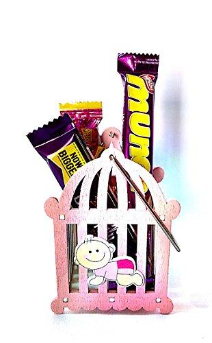 Must Visit Present Wooden Pink Baby Birthday Return Gift Kids