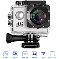 IVSO Ultra HD 4K Sport Action Camera WIFI 4K 60fps HDMI 20MP+ 170 Degree Wide Viewing Angle 2.0 inch LCD Screen Waterproof Sports DV Camcorder with Accessories Kit for Extreme Outdoor Sports
